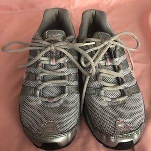 Worn Nike shok shoes